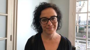A filósofa e escritora Marcia Tiburi na Fundação Jean Jaurès.