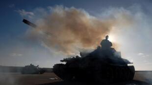 Homens do Exército nacional da Líbia
