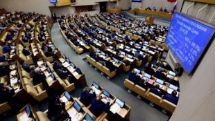 Впятницу, 13 апреля, лидеры всех фракций внесли вГосударственную думу РФзаконопроект обответных мерах нанедружественную политику США