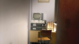 Reconstitution d'un bureau de la Stasi, au musée de la RDA à Berlin.
