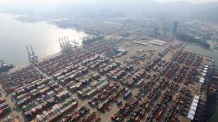Vue aérienne du port de Shenzen en 2015 (image d'illustration).