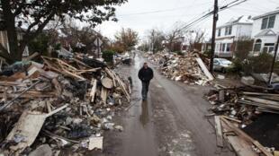 Barrio devastado en Queens, el 8 de noviembre de 2012.