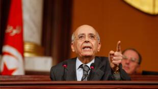 Tunisia's former prime minister Mohamed Ghannouchi.