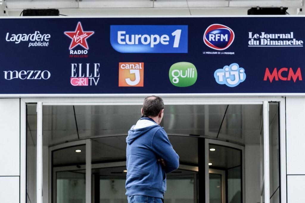 Photo d'archive prise le 29 novembre 2018, où l'on peut voir le bâtiment abritant des médias français dont Europe 1, à Paris.