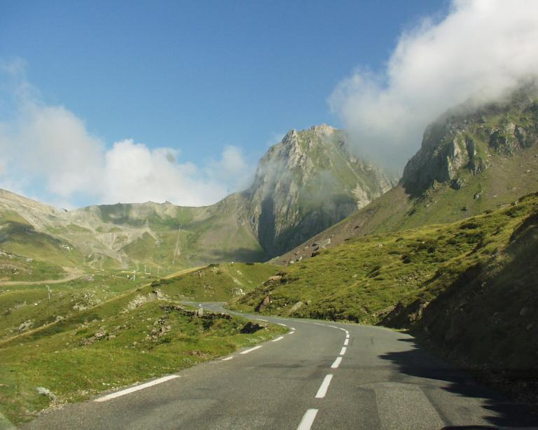 The legendary Tourmalet pass, in the French Pyrenees