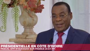 Pascal Affi N'Guessan, porta-voz da plataforma da oposição marfinense está contra a organização da eleição presidencial de 31 de ouotubro na Costa do Marfim