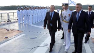 俄羅斯總統普京在符拉迪沃斯托克