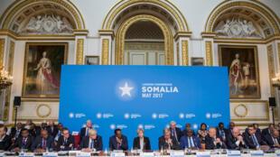 Le Première ministre britannique Theresa May a présidé la conférence autour de la Somalie, à Londres le 11 mai 2017.