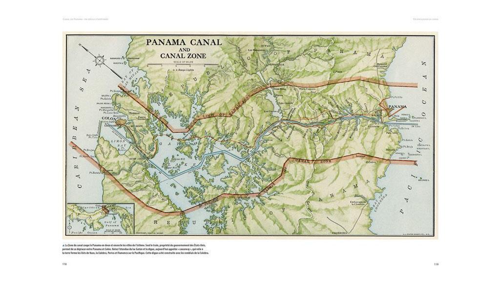 Une carte du Canal de Panama et sa zone longtemps sous concession américaine.