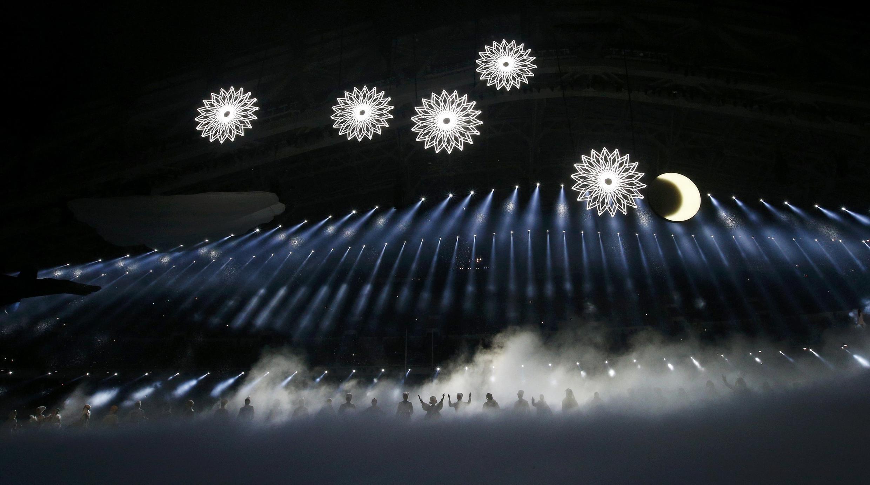 Cerimónia de abertura dos Jogos Olímpicos de inverno de 2014 em Sochi.
