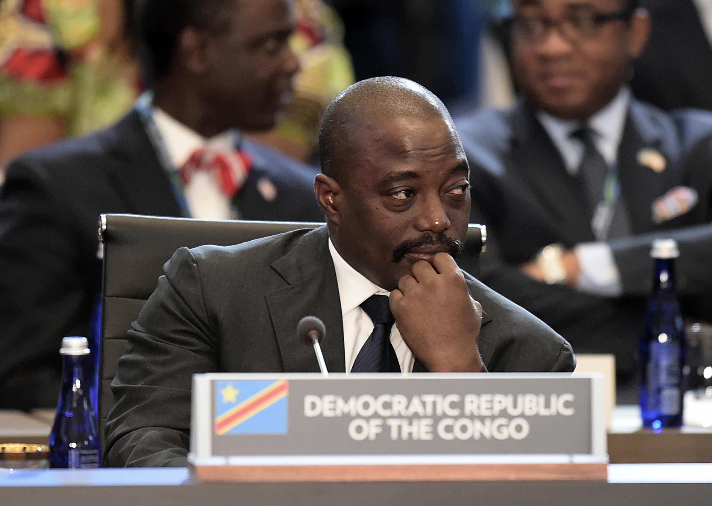 Le président Joseph Kabila, au sommet UA-Etats-Unis à Washington, en 2014.