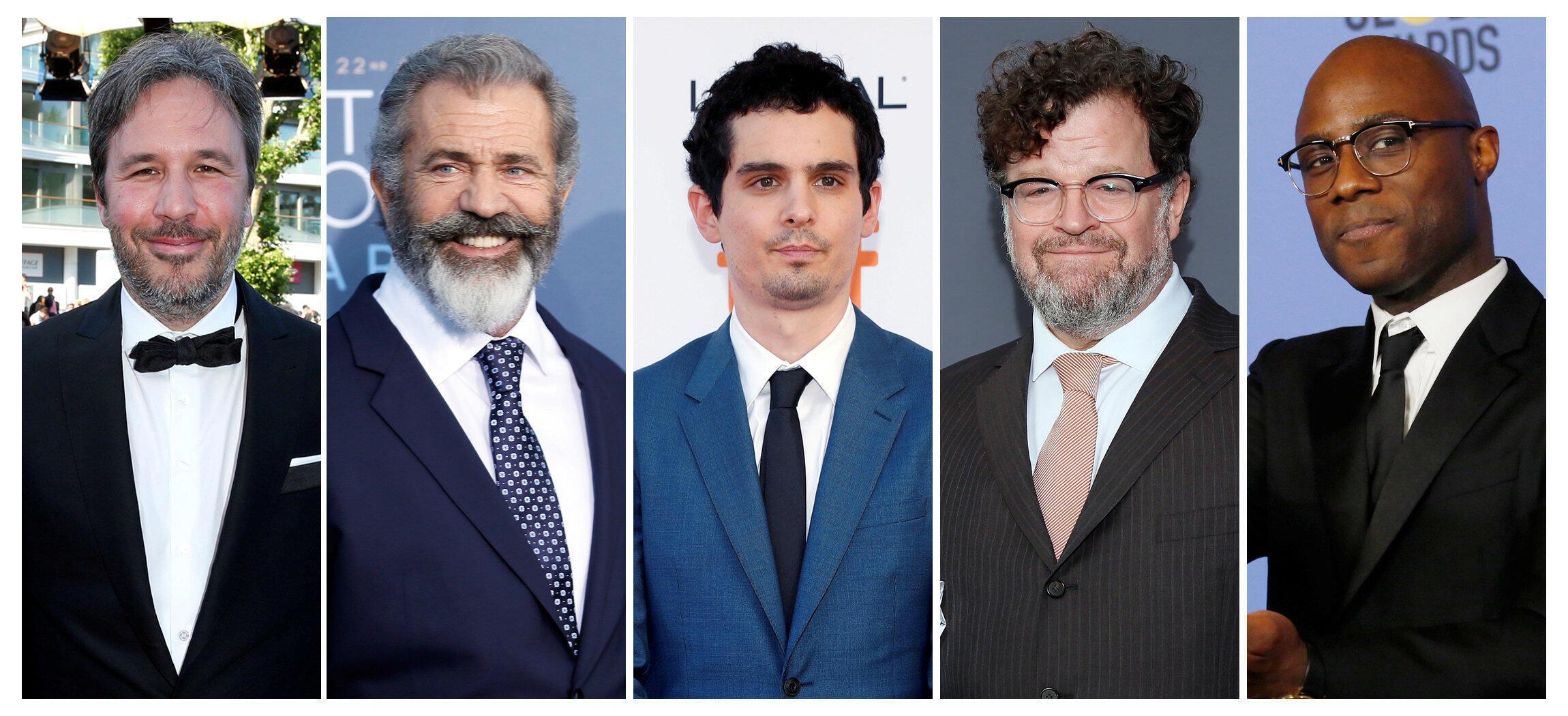 Melhor diretor: Denis Villeneuve, Mel Gibson, Damien Chazelle, Kenneth Lonergan e Barry Jenkins
