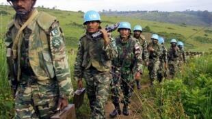 Casques bleus pakistanais dans l'Ituri, au nord-est de la RDC, en 2003.