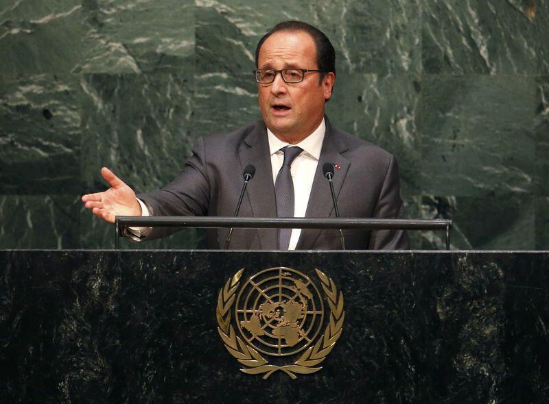 François Hollande discursando nas Nações Unidas