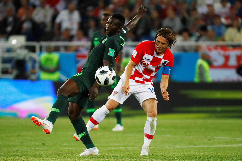 Le Nigérian Oghenekaro Etebo devancé par le Croate Luka Modric.