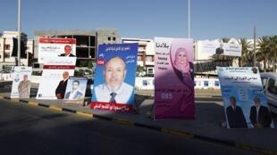 Les deux auteurs de «Jours tranquilles à Tripoli» sont arrivés en Libye pour couvrir les élections de 2012, dont on peut voir les affiches de campagnes.