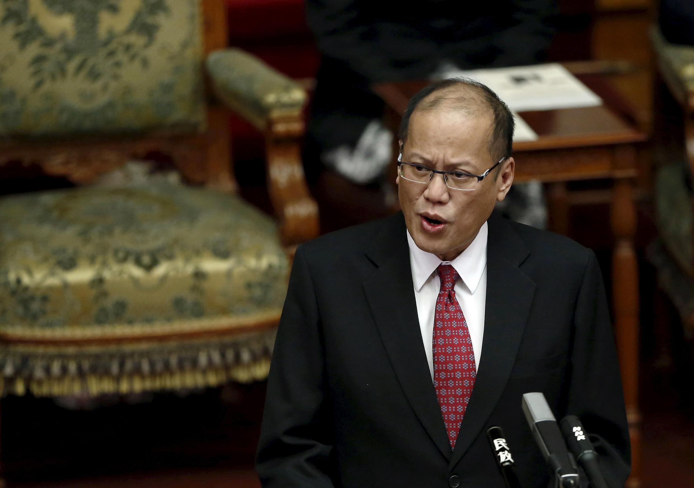 Tổng thống Philippines Benigno Aquino phát biểu tại Thượng viện Nhật Bản ở Tokyo, ngày 03/06/2015.