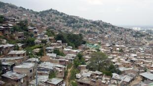 Le quartier de Siloe, au sud-ouest de Cali, dans le département de Valle del Cauca, en Colombie.