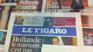 Capas dos diários franceses de dia 14/11/2012