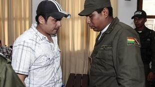 Jaime Martinez (L) after being found guilty of the murder of Jérémie Bellanger and Fannie Blancho