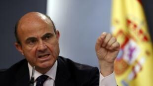 O ministro espanhol da Economia, Luis de Guindos, acredita que a crise na Catalunha custou € 1 bilhão à Espanha