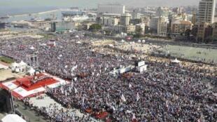 Plusieurs milliers de Libanais se sont réunis à Beyrouth ce 14 février pour commémorer le 5e anniversaire de l'assassinat de Rafic Hariri.
