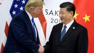 Rais Donald Trump na mwenzake wa China Xi Jinping wakati wa mazungumzo kuhusu mkataba wa biashara kati ya nchi hizo mbili. (picha ya kumbukumbu)