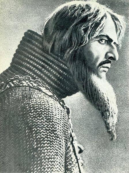 Федор Шаляпин в фильме «Царь Иван Васильевич Грозный», 1911.