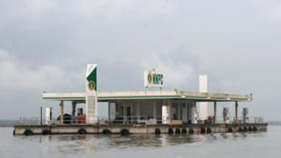 Une plateforme pétrolière nigérianne, en juin 2017.