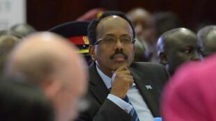 Le président Mohamed Abdullahi Mohamed «Farmajo» au sommet de l'organisation régionale Igad sur la situation des réfugiés somaliens dans la région, à Nairobi, le 25 mars 2017.