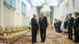 رجب طیب اردوغان و ولادیمر پوتین در تهران