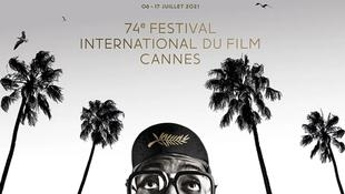Official Poster of the 74th Cannes Film Festival 2021_Photograph of Spike Lee courtesy of Bob Peterson & Nike © All rights reserved Graphic design © Hartland Villa