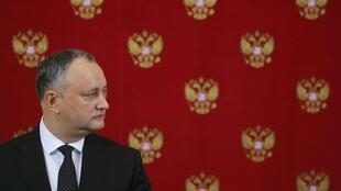Президент Молдовы Игорь Додон во время визита в Москву, 17 января 2017.
