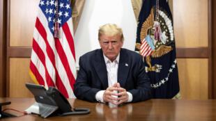 Donald Trump, ici à l'hôpital Walter-Reed, le 4 octobre 2020.