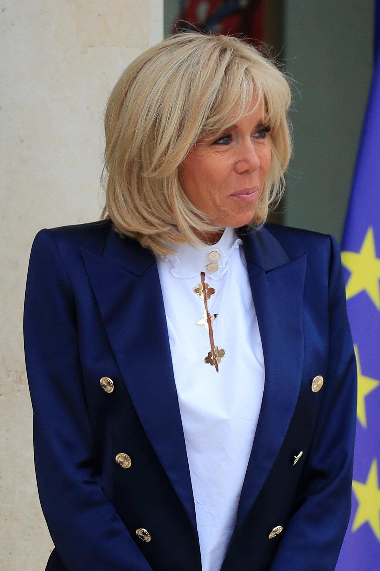 A primeira-dama da França, Brigitte Macron.