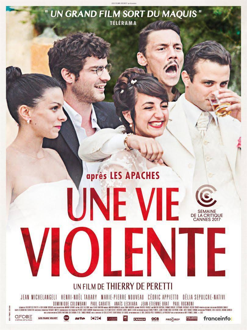 L'affiche du nouveau film de Thierry de Peretti «Une vie violente» sur les écrans français à partir du 9 août 2017.