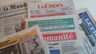 Primeiras páginas dos jornais franceses de 24 de janeiro de 2018