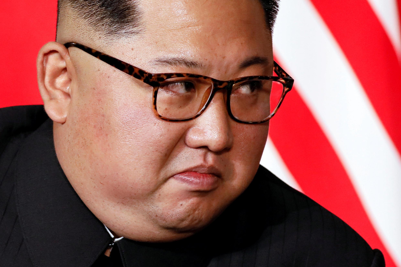 美朝峰會上的金正恩特寫