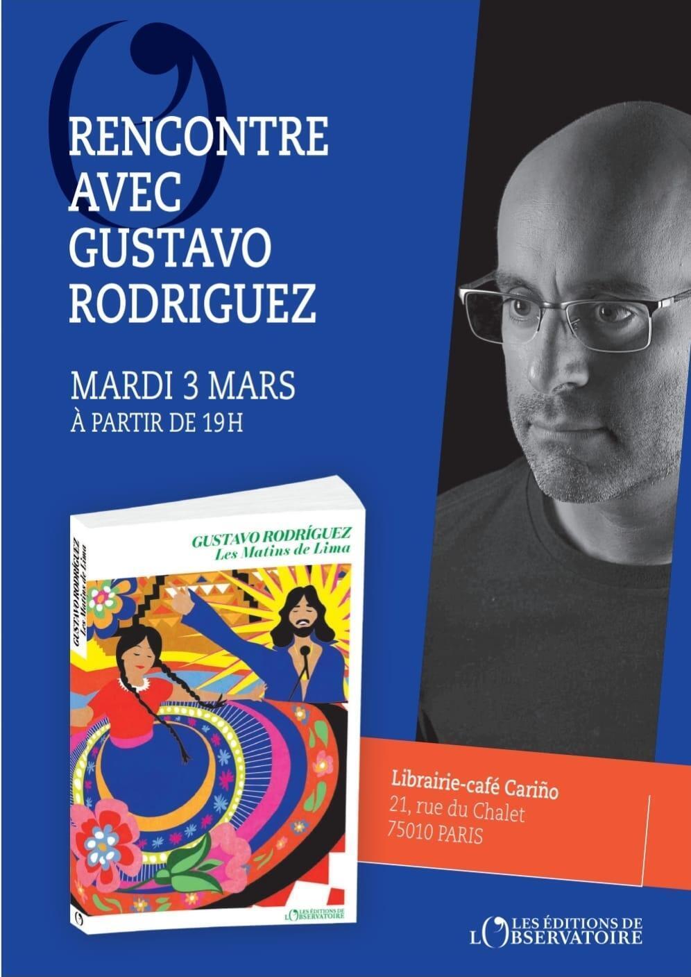 Cartel de la presentación en París