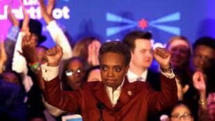 Lori Lightfoot, la nouvelle maire de Chicago, promet de réduire les inégalités sociales et raciales. (Photo datée du 2 avril 2019).