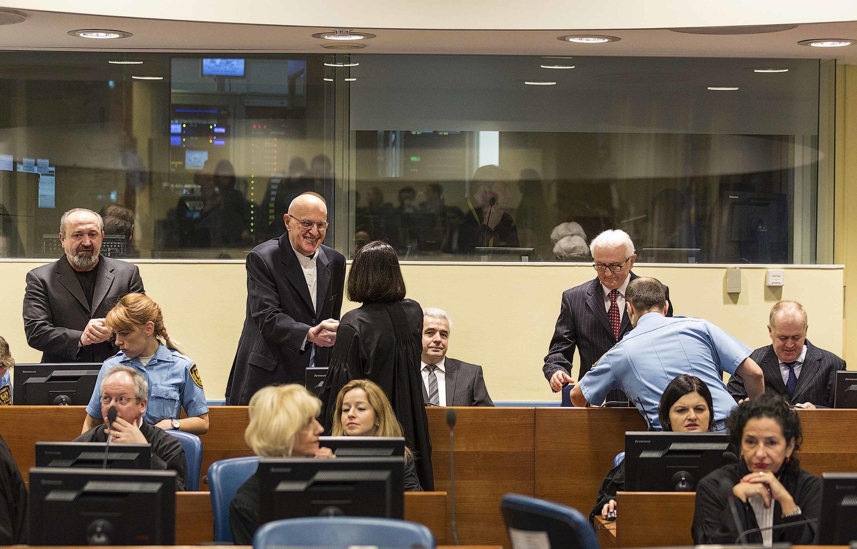 Phiên tòa xử tội ác chiến tranh Serbia La Haye. Ảnh ngày 30/01/2015