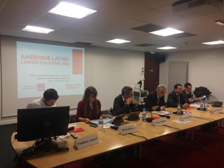 """Conferência de lançamento do relatório """"Ano Político 2016 na América Latina"""""""