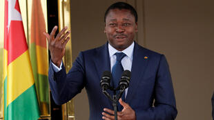 Le président sortant du Togo, Faure Gnassingbé, lors d'une visite en Côte d'Ivoire, le 20 novembre 2017.