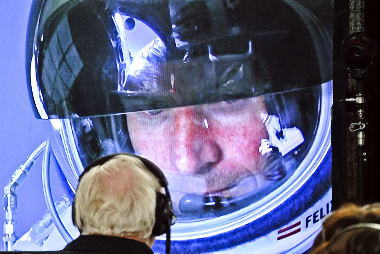 O pára-quedista Felix Baumgartner.
