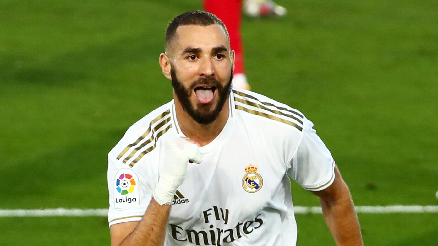 Dan wasan gaba na Real Madrid Karim Benzema