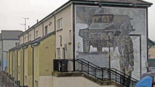 Peinture murale dans le Bogside, à Derry.