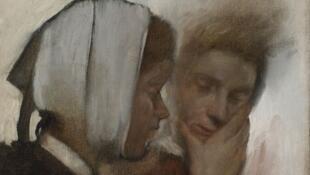 """""""Blanchisseuses souffrant des dents"""" d'Edgar Degas"""