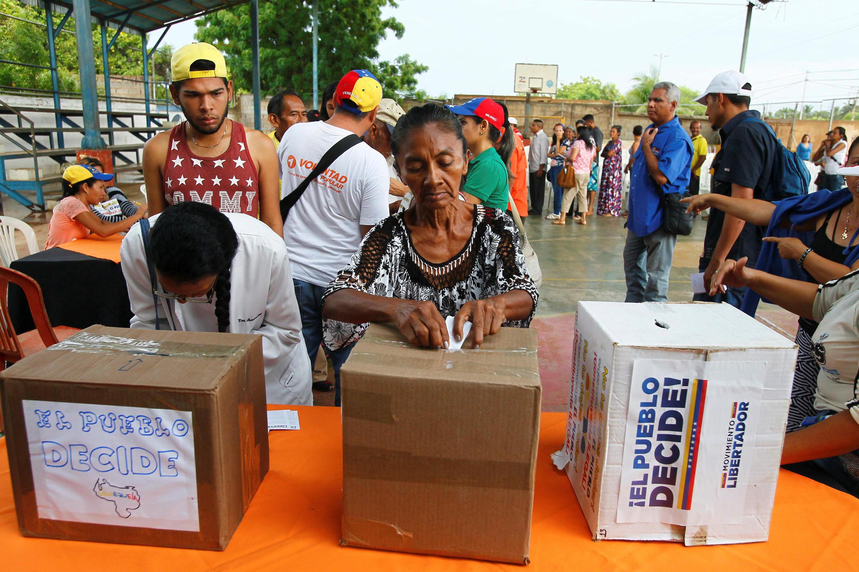 Venezuela : Cảnh bỏ phiếu trưng cầu dân ý ở vùng nông thôn bang Maracaibo. Ảnh ngày 16/07/2017.