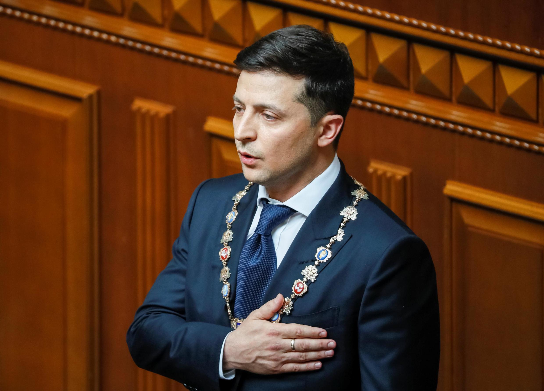 Tân tổng thống Ukraina, ông Volodymyr Zelenskiy, trong lễ nhậm chức tại Kiev ngày 20/05/2019.