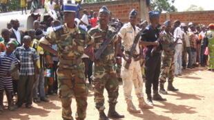 Les gendarmes de Ndélé, RCA, le 21 mars 2015.